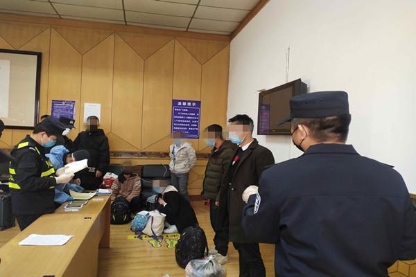 沙坡頭公安火車站執勤組勸返多名傳銷人員